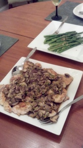chicken with mushroom and leeks